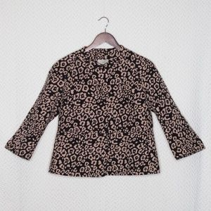 Ann Taylor LOFT Cheetah Print Blazer